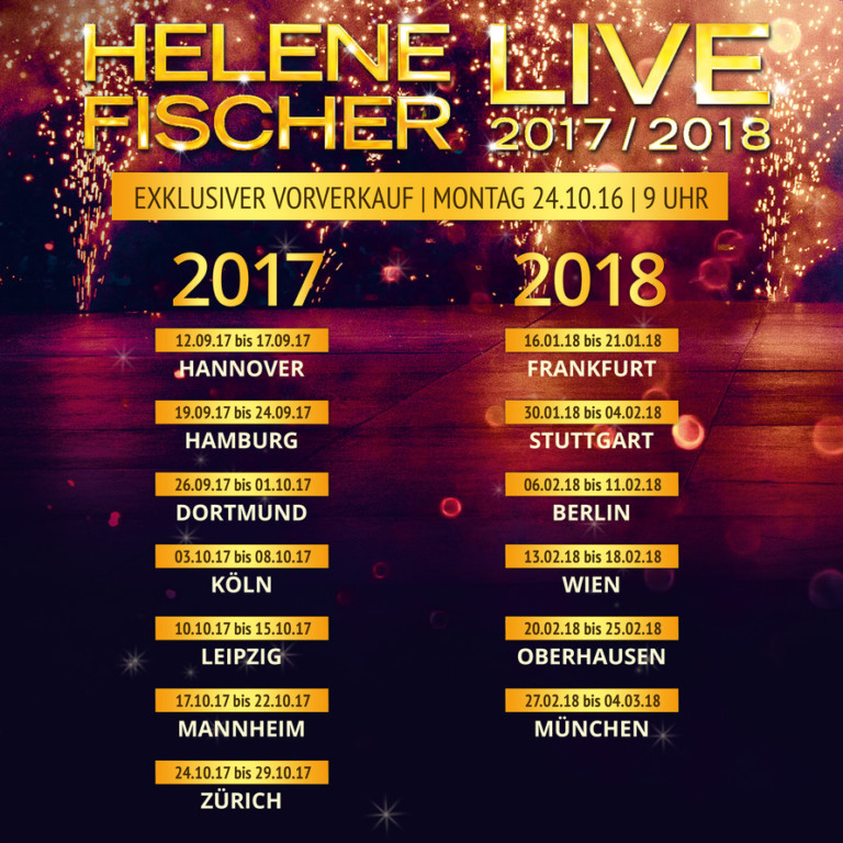 Helene Fisher Tour 2017/2018